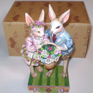 Jim Shore Bunny Couple Happy Together 40075463